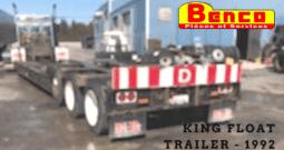REMORQUE TRAIL KING LOWBOY FLOAT TRAILER 1992 À VENDRE