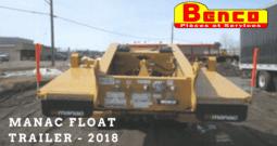 REMORQUE MANAC FLOAT TRAILER 2018 À VENDRE